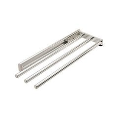 Chrome Finish 3 Bar Towel Rack