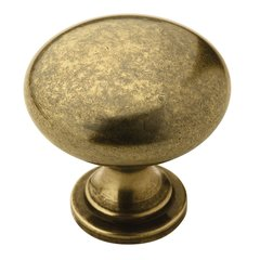 Allison Value Hardware 1-1/4 Inch Diameter Burnished Brass Cabinet Knob <small>(#BP53005BB)</small>