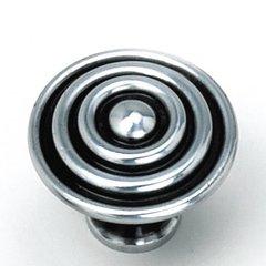 Kama 1-1/2 Inch Diameter Antique Silver Cabinet Knob <small>(#23060)</small>