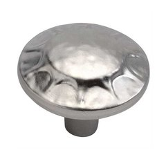 Clover Creek 1-1/4 Inch Diameter Flat Nickel Cabinet Knob