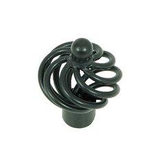 Sheffield 1-3/8 Inch Diameter Matte Black Cabinet Knob <small>(#CP81494-MB)</small>