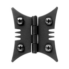 Smooth Iron Butterfly Style Surface Mount Hinge Black Iron