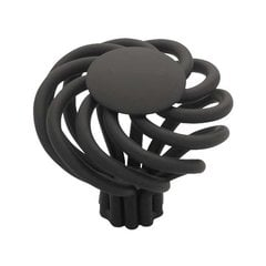 Forged Iron 1-9/16 Inch Diameter Flat Black Cabinet Knob