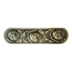 English Garden 3 Inch Center to Center Antique Brass Cabinet Pull <small>(#NHP-680-AB)</small>