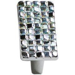 Italian Designs Mosaic 1-1/4 Inch Center to Center Polished Chrome Cabinet Knob