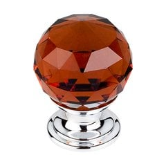 Crystal 1-1/8 Inch Diameter Wine Crystal Cabinet Knob <small>(#TK121PC)</small>
