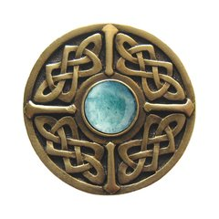 Jewel 1-3/8 Inch Diameter Antique Brass Cabinet Knob