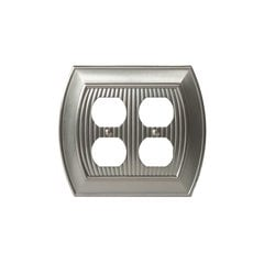 Allison Two Receptacle Wall Plate Satin Nickel