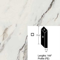Wilsonart Bevel Edge - Calcutta Marble - 12 Ft