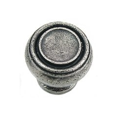 Balance 1-1/4 Inch Diameter Antique Pewter Cabinet Knob