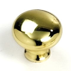 Celebration 1-1/4 Inch Diameter Polished Brass Cabinet Knob <small>(#54437)</small>