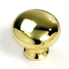 Celebration 1-1/4 Inch Diameter Polished Brass Cabinet Knob