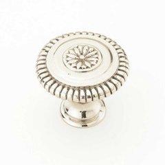 Sonata 1-5/16 Inch Diameter White Brass Cabinet Knob