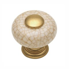 "Tranquility Knob 1"" Dia Vintage Brown Crackle <small>(#P221-VC)</small>"