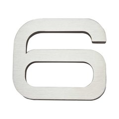 Paragon House Number Six Stainless Steel