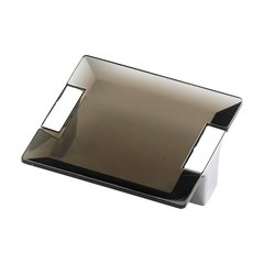 Positano 2-1/2 Inch Center to Center Chrome/Smoke Cabinet Pull