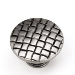 Windsor 1-1/4 Inch Diameter Antique Pewter Cabinet Knob <small>(#24506)</small>