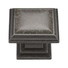 Somerset 1-5/16 Inch Diameter Black Nickel Vibed Cabinet Knob <small>(#HH74639-BNV)</small>