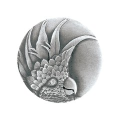 Tropical 1-3/8 Inch Diameter Antique Pewter Cabinet Knob <small>(#NHK-324-AP-L)</small>