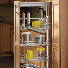 "5 Basket Pantry 58-1/4"" - 65-3/4"" H Chrome"