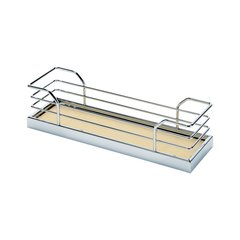 2 Tray Spice Rack Set 5 inch W Chrome/Maple