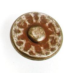 Nevada 1-3/8 Inch Diameter Antique Pewter With Terra Cotta Wash Cabinet Knob
