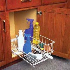"""Under-sink Basket 11""""W- White"""