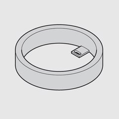 Loox 24V 3001 Surface Mount Ring - Black <small>(#833.77.711)</small>