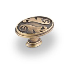 Regency 1-9/16 Inch Diameter Antique Brushed Satin Brass Cabinet Knob