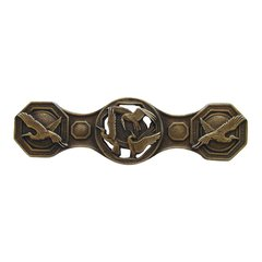 Arts & Crafts 3 Inch Center to Center Antique Brass Cabinet Pull <small>(#NHP-637-AB)</small>