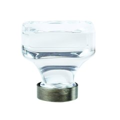 "Glacio Knob 1-3/8"" Dia Clear Crystal/Gunmetal <small>(#BP36653CGM)</small>"