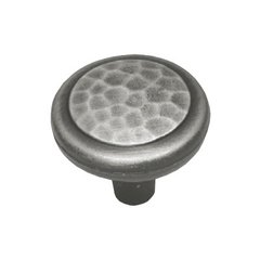 Arts & Crafts 1-1/4 Inch Diameter Antique Pewter Cabinet Knob