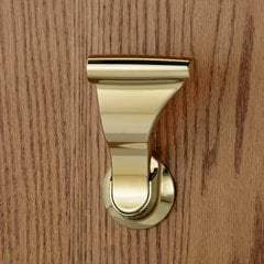 "Closet UltraLatch for 1-3/4""and 2 inch Door Bright Brass"