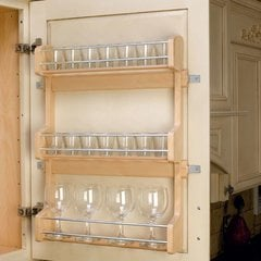 "Door Mount Spice Rack 21""- Wood"