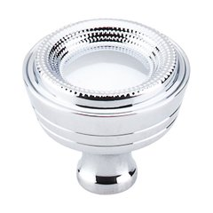 Edwardian 1-5/16 Inch Diameter Polished Chrome Cabinet Knob <small>(#M1620)</small>