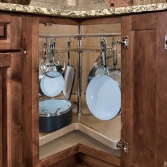 """Not So Lazy Susan Cookware Organizer Maple 32"""""""