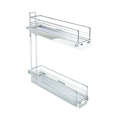 2 Tier Base Pullout 90 Degree Chrome