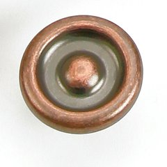 Foundry 1-1/4 Inch Diameter Antique Copper Cabinet Knob <small>(#39207)</small>