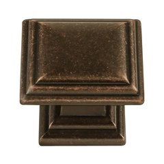 Somerset 1-5/16 Inch Diameter Dark Antique Copper Cabinet Knob