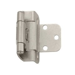 Partial Wrap 3/8 inch Inset Hinge Satin Nickel - Per Pair