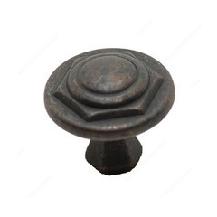 Art Deco 1-1/16 Inch Diameter Spotted Bronze Cabinet Knob <small>(#BP30827138)</small>