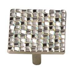 Italian Designs Mosaic 1-7/8 Inch Diameter Satin Nickel Cabinet Knob