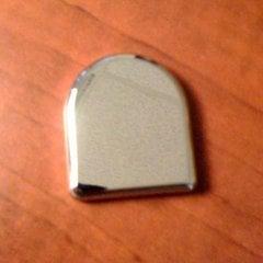Salice Bullet Glass Door Cap-Chrome Finish <small>(#P2CBA06)</small>