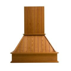 30 inch Wide Straight Nantucket Range Hood-Red Oak