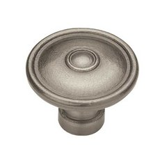Rustique 1-1/2 Inch Diameter Antique Pewter Cabinet Knob