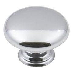 "Gatsby Cabinet Knob 1-3/16"" Dia Polished Chrome"