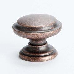 Euro Rustica 1-3/8 Inch Diameter Rustic Copper Cabinet Knob <small>(#2977-1RC-C)</small>