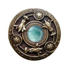 Jewel 1-1/4 Inch Diameter Antique Brass Cabinet Knob <small>(#NHK-161-AB-GA)</small>