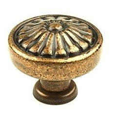 Hartford 1-1/4 Inch Diameter Aged Copper Cabinet Knob