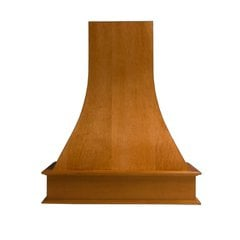 36 inch Wide Artisan Range Hood-Red Oak